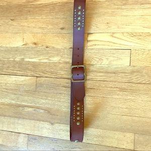 Gap Leather Belt Brass Details XL